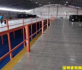 深圳货架厂家都想知道哪个行业的仓库重型阁楼平台比较多