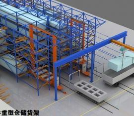 四川大型重型仓储货架定制案例