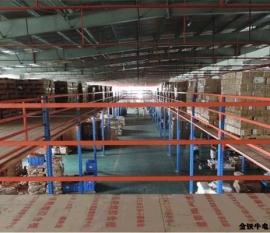 上海奉贤大型电商货架阁楼平台搭建案例
